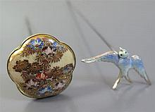 An Edward VII Silver and Enamel Hat Pin in the form of a bird in flight and