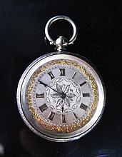 A Lady's Silver Cased Pocket Watch