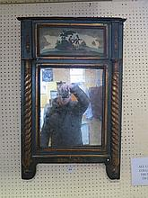 An Eighteenth Century Decorative Wall Mirror with painted scene above