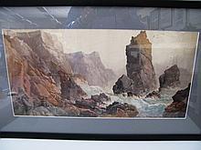 Attrb. Arthur Suker, Stormy Coastal Scene,