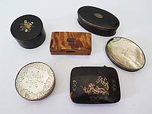 Six 18th / 19th Century Snuff and other boxes, A/F