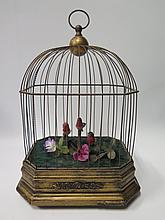A Three Bird Singing Automaton, c. 38 cm