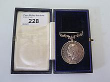 A Board of Trade Long Service with The Rocket Saving Apparatus Medal awarde