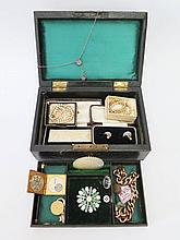 A Selection of Costume Jewellery in jewellery box