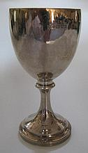 An Edward VII Plannished Silver Goblet, London