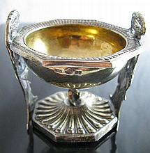 A Russian Silver and Gilt Salt, St. Petersberg