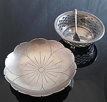 A George VI Silver Water Lily Shaped Pin Dish,