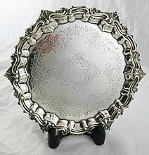 A Victorian Silver Salver, London 1898, Sibray,