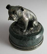 A Large Paperweight modelled as a Bulldog on