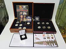 Two Boxed Part Silver Proof Coin Sets