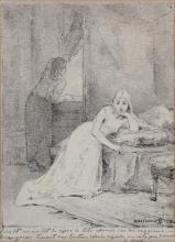 Alexei Aleixeiwitsch HARLAMOFF – 1852-1922 ISEULT SUR SON LIT DE REPOS
