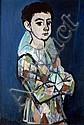 Rudolf KUNDERA - 1911-2005 L'ARLEQUUIN Huile sur, Rudolf Kundera, Click for value