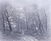 Edmond CUISINIER - 1857-1917 PROMENEURS DANS LA