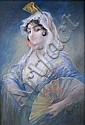Gaston NOURY, né en 1866 - LA JEUNE ANDALOUSE, Gaston Noury, Click for value