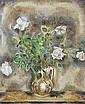 KOYANAGUI Sei 1896-1948 VASE DE FLEURS BLANCHES