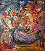 Alexandre PUTOV - 1940-2008 BOUQUET DE FLEURS, 1990 Huile sur toile signée et datée en bas à droite, contresignée, datée et située..., Sacha Putov, Click for value