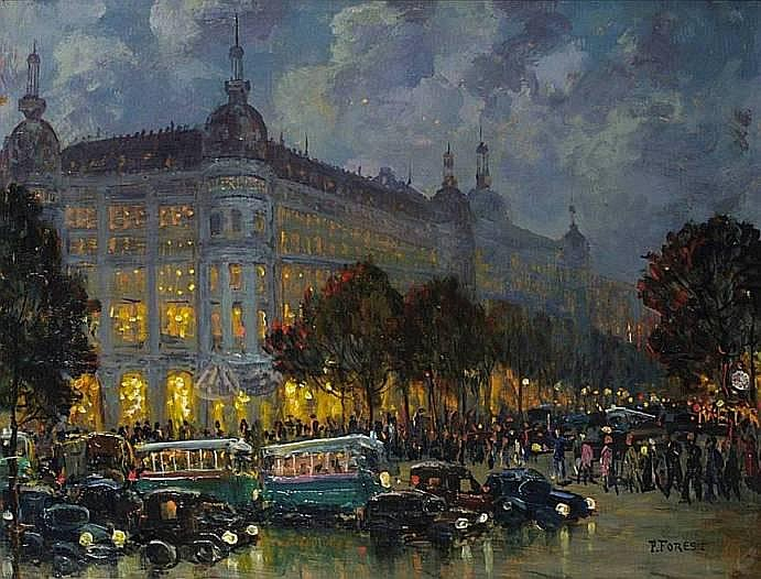 FOREST Pierre (1881-1971) PARIS, LE PRINTEMPS ET