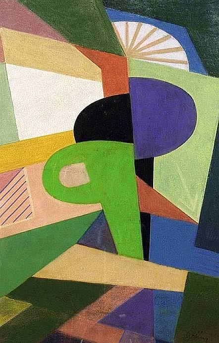BELANYÏ Victor (1877-1955) COMPOSITION Gouache