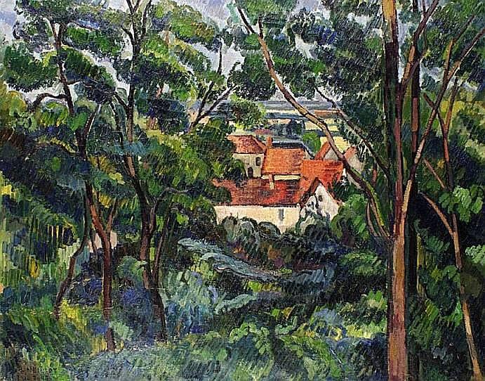 NEILLOT Louis (1898-1973) LE PUY-TALLOIRES, VUE À