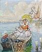 Gennaro BEFANIO, né en 1866 JEUNE FILLE EN BARQUE., Gennaro Befani, Click for value