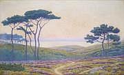 André MORISSET - 1876-1954 COUCHER DE SOLEIL SUR