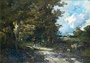Émile Henri KEYMEULEN - 1840-1882 PAYSAN SUR LE