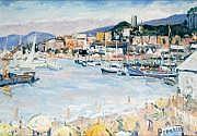 Charles MALLE, né en 1935 CANNES, LE SUQUET. Huile