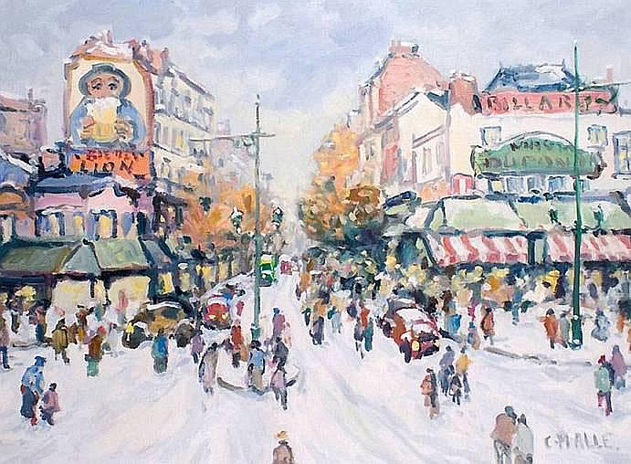 MALLE Charles né en 1935 PARIS, LA PLACE BLANCHE