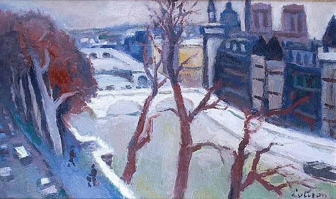 LOTIRON Robert 1886-1966 PARIS, LA SEINE ET LA
