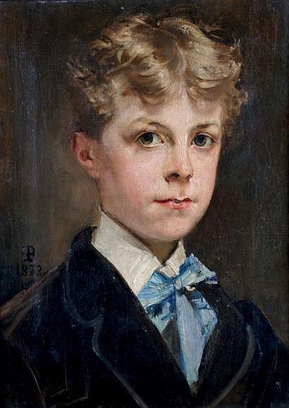 Paul BAUDRY-1828-1886 PORTRAIT DU JEUNE KARL