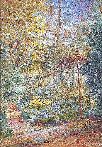 CHAPUIS Pierre (1863-1942) VUE DU JARDIN AU RAINCY