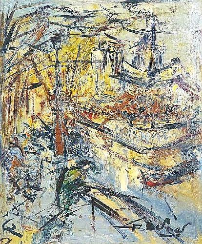 BERGER Georges (1908-1976) PARIS, NOTRE-DAME 1962