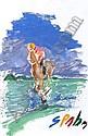 SPAHN Victor (ne en 1949) LE JOCKEY Gouache signee, Victor Spahn, Click for value