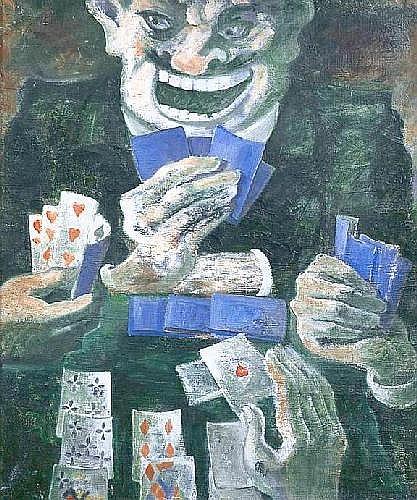ALIX Yves (1890-1969) LES JOUEURS DE CARTES 1970