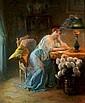 Louis GALLIAC - 1849-1934 JEUNE FEMME LISANT DANS, Louis Galliac, Click for value