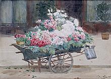 Victor GILBERT – 1847-1935   LA CHARRETTE DE LA MARCHANDE DE QUATRE SAISON