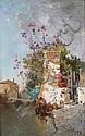 Jean d'ALHEIM - 1840-1894 CANAL À VENISE Huile sur, Jean