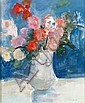 Arthur van HECKE-1924-2003 VASE DE ROSES., Arthur