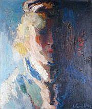 Arthur van HECKE - 1924-2003 PORTRAIT DE FEMME,