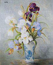 Marie Madeleine de RASKY - 1897-1972 VASE D'IRIS