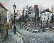 Francis LE COADIC - né en 1912 MONTMARTRE, RUE