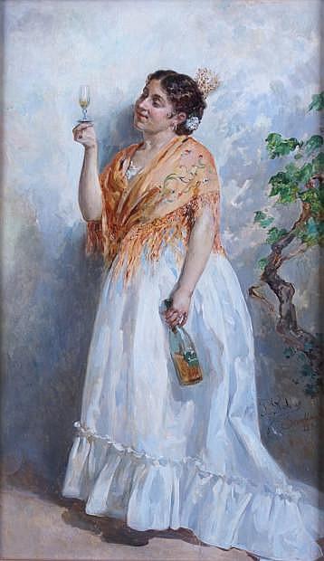 José ROBLES Y MARINEZ-1843-1911 La dégustation,