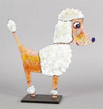 Christophe JEHAN – né en 1961 LE CANICHE Sculpture acrylique sur tôle