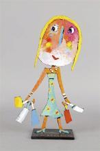Christophe JEHAN – né en 1961 LA COQUETTE Sculpture, acrylique sur tô