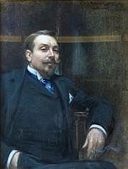 André SINET (né en 1867) PORTRAIT D'HOMME Pastel,