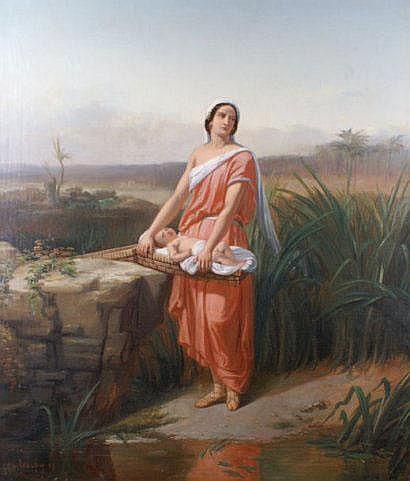 Charles-Augustin WAUTERS (1811-1869) Moïse enfant