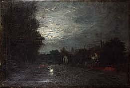 Amédée-Elie SERVIN (1829-1886) PAYSAGE AU CLAIR DE