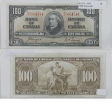 1937 Coyne-Towers B/J $100