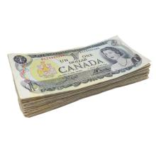 1973 Bank of Canada $1.00 Lot