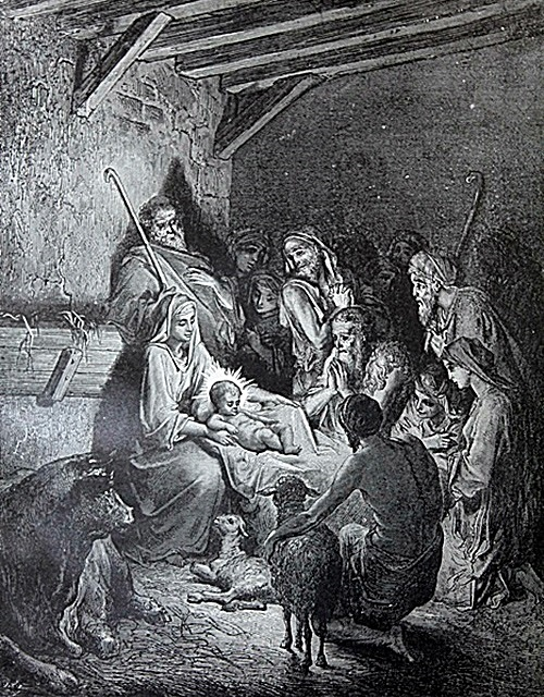 The Dore Bible Gallery Pg 57 The Nativity